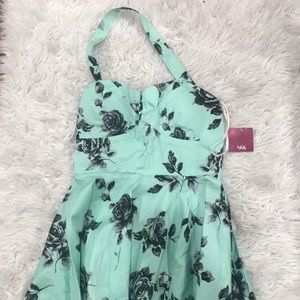 Mint colored pinup style dress